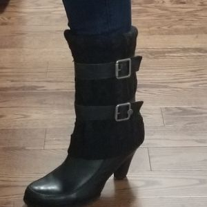 Dressy Chic Black leather boots